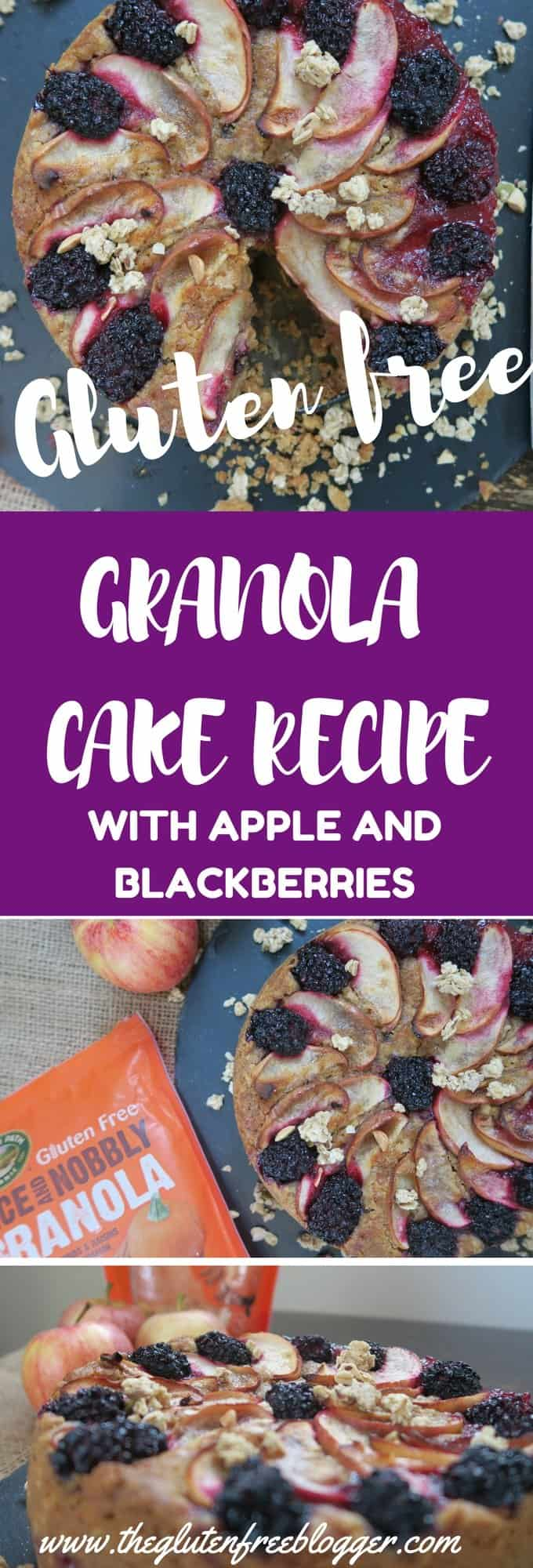 Gluten free granola cake recipe with apple and blackberries - autumn recipes - egg free - www.theglutenfreeblogger.com (1)