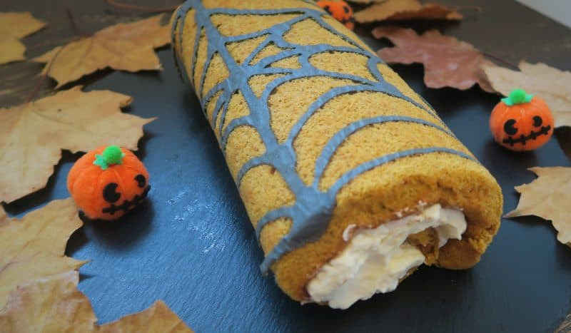 pumpkin spice gluten free swiss roll recipe halloween
