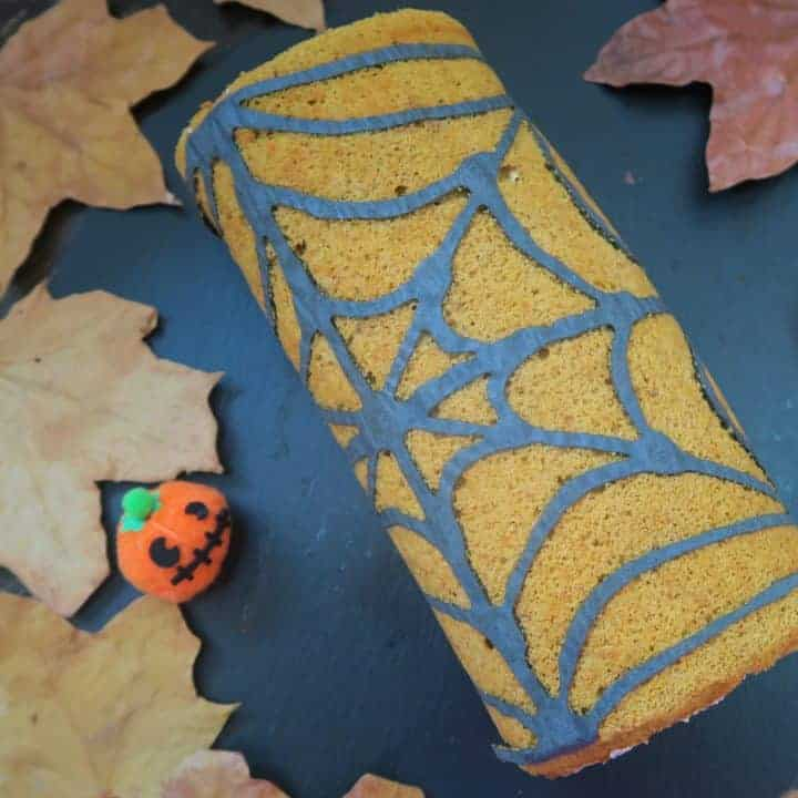 Pumpkin spice gluten free swiss roll