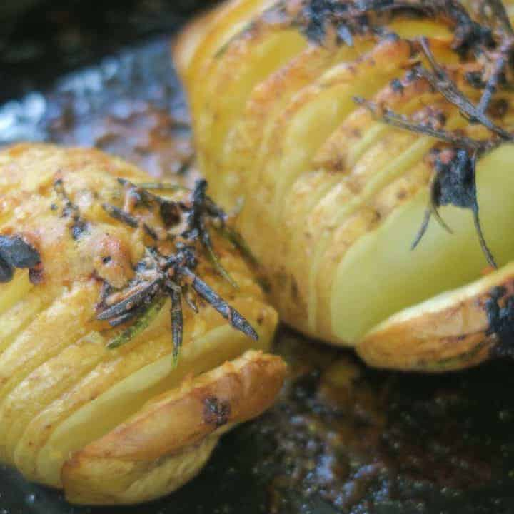 GLUTEN FREE HASSELBACK POTATOES GARLIC ROSEMARY 10