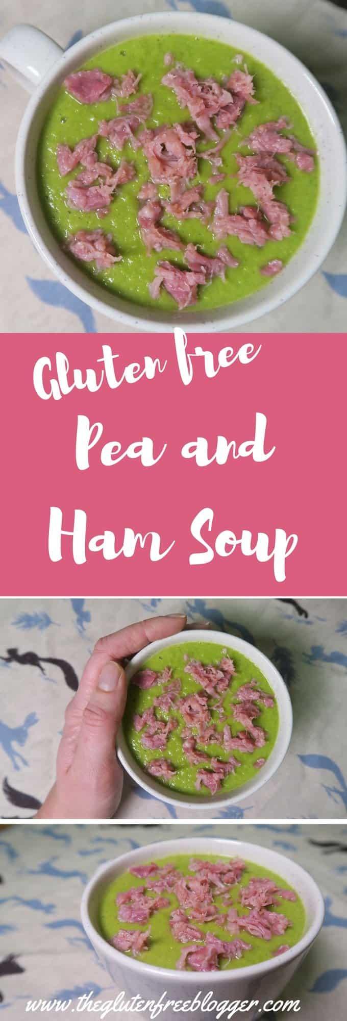 Gluten free pea and ham soup recipe - dairy free - www.theglutenfreeblogger.com