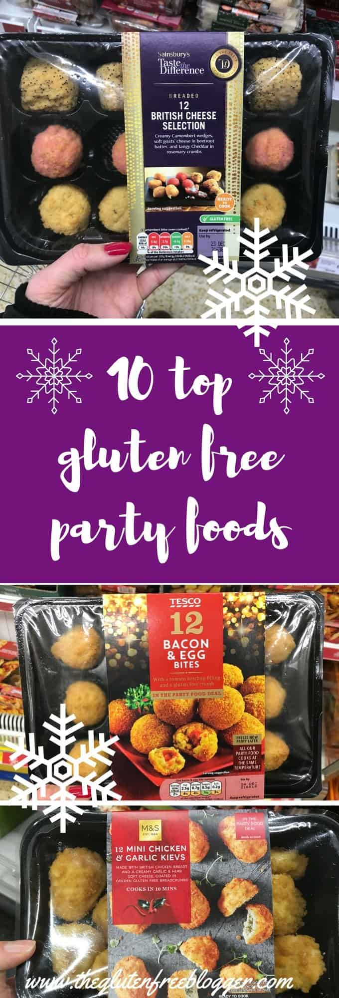 10 gluten free party food picks - www.theglutenfreeblogger.com