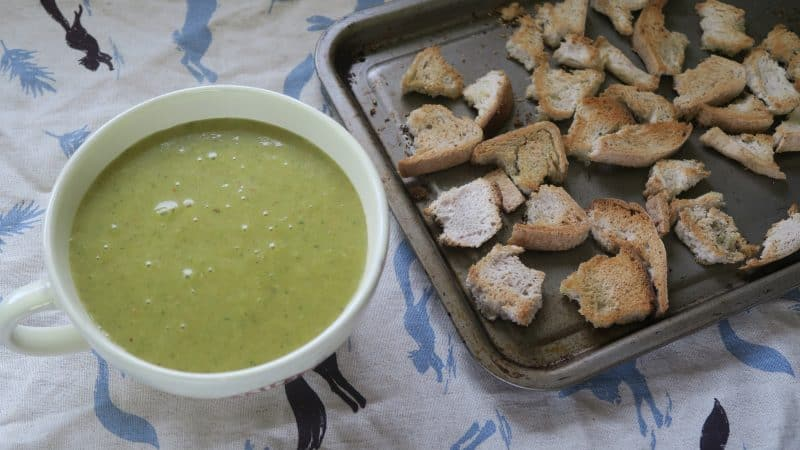 gluten free soup recipe curried potato soup with gluten free croutons