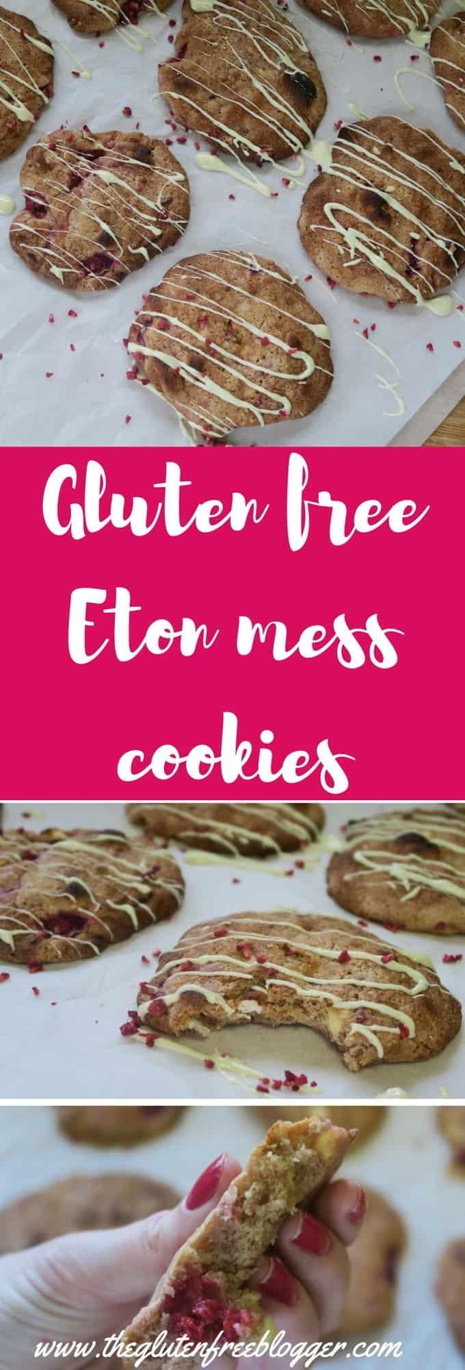 Gluten free Eton mess cookies recipe - chewy cookies recipe - www.theglutenfreeblogger.com