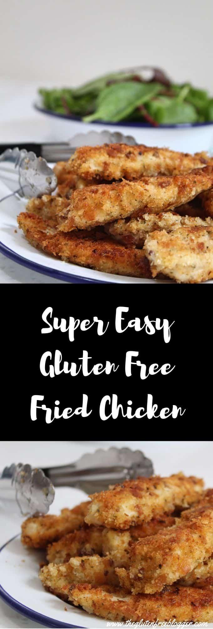 gluten free fried chicken recipe - easy gluten free dinner ideas - KFC fakeaway chicken recipe - dairy free