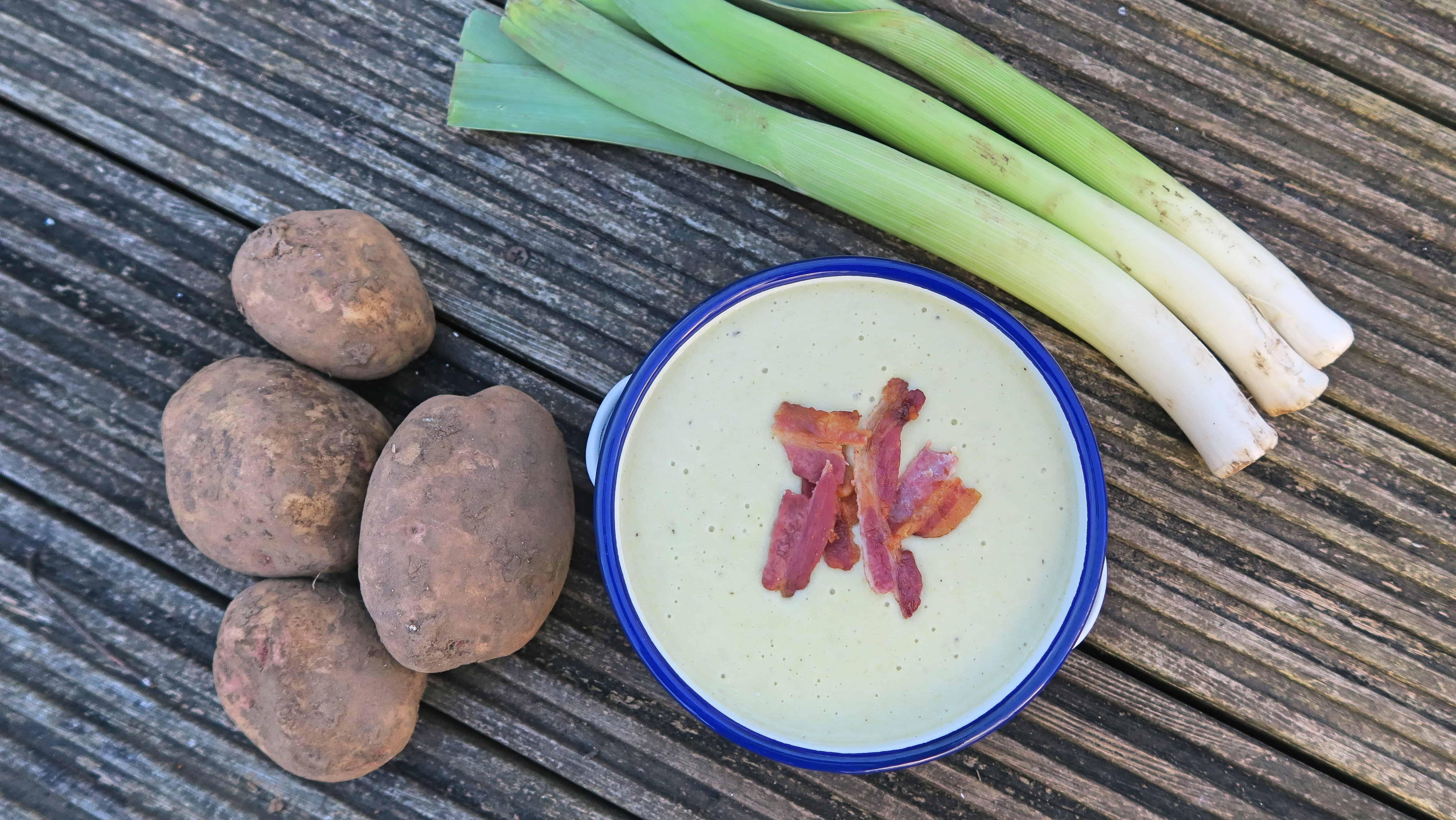 gluten free potato leek and blue cheese soup recipe