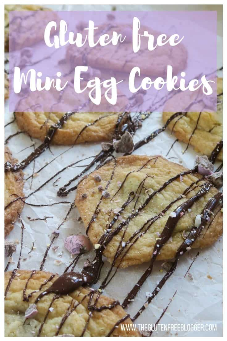 Gluten free Mini Egg cookies - the perfect gluten free Easter recipe, and a great baking recipe to make with children.