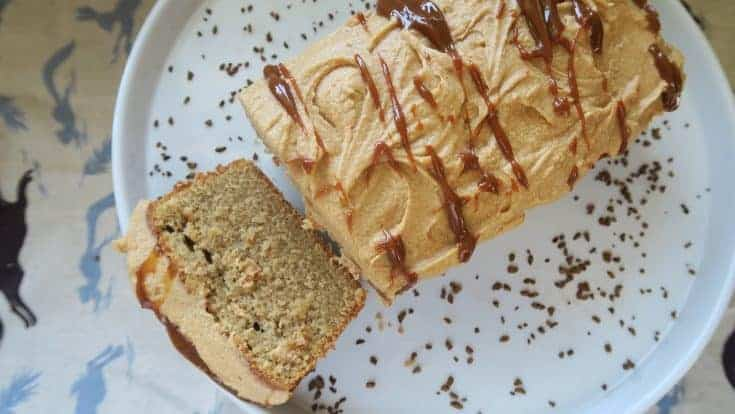 My deliciously easy gluten free caramel latte loaf cake