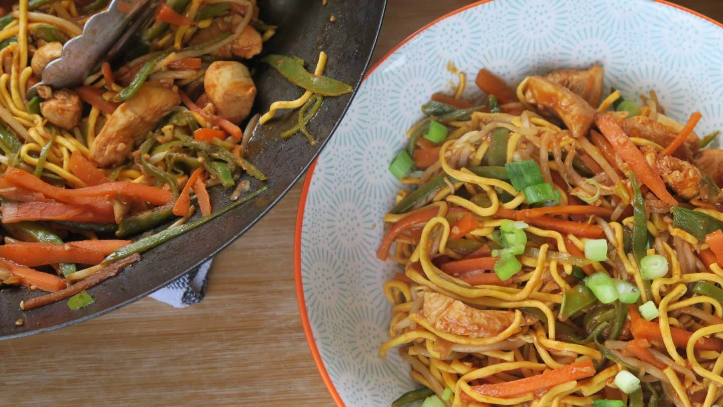 The easy gluten free chicken chow mein recipe you have to try my quick and easy gluten free chicken chow mein with just a splash forumfinder Image collections