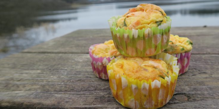 Smoked salmon and chive egg muffins