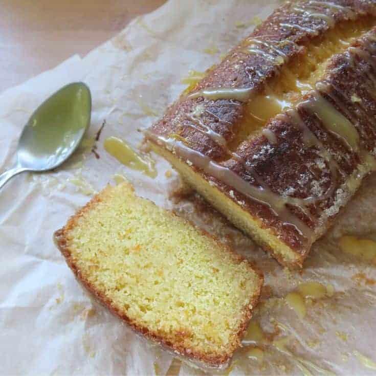 Gluten free citrus drizzle cake