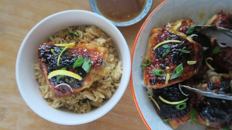 gluten free marmalade chicken recipe with egg fried rice 7
