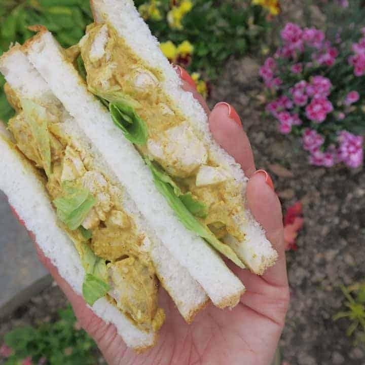 gluten free sandwiches coronation chicken recipe
