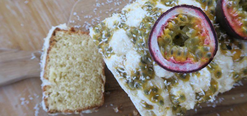 Passion Fruit Loaf Cake