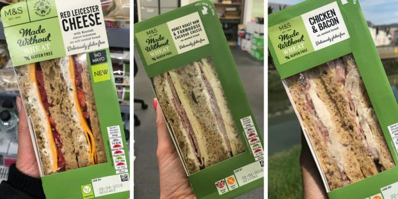 marks and spencer gluten free sandwiches