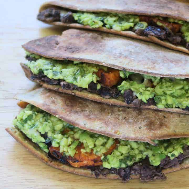 WARBURTONS GLUTEN FREE QUESADILLAS BLACK BEAN AND SWEET POTATO QUESADILLAS