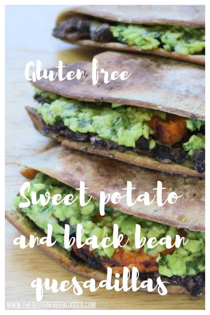 gluten free quesadillas - sweet potato and black bean quesadillas - vegan quesadillas - vegetarian quesadillas