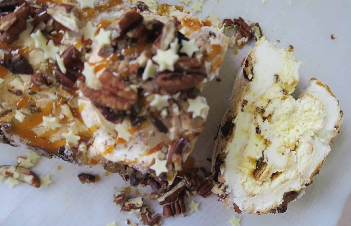 GLUTEN FREE TOFFEE AND PECAN ROULADE