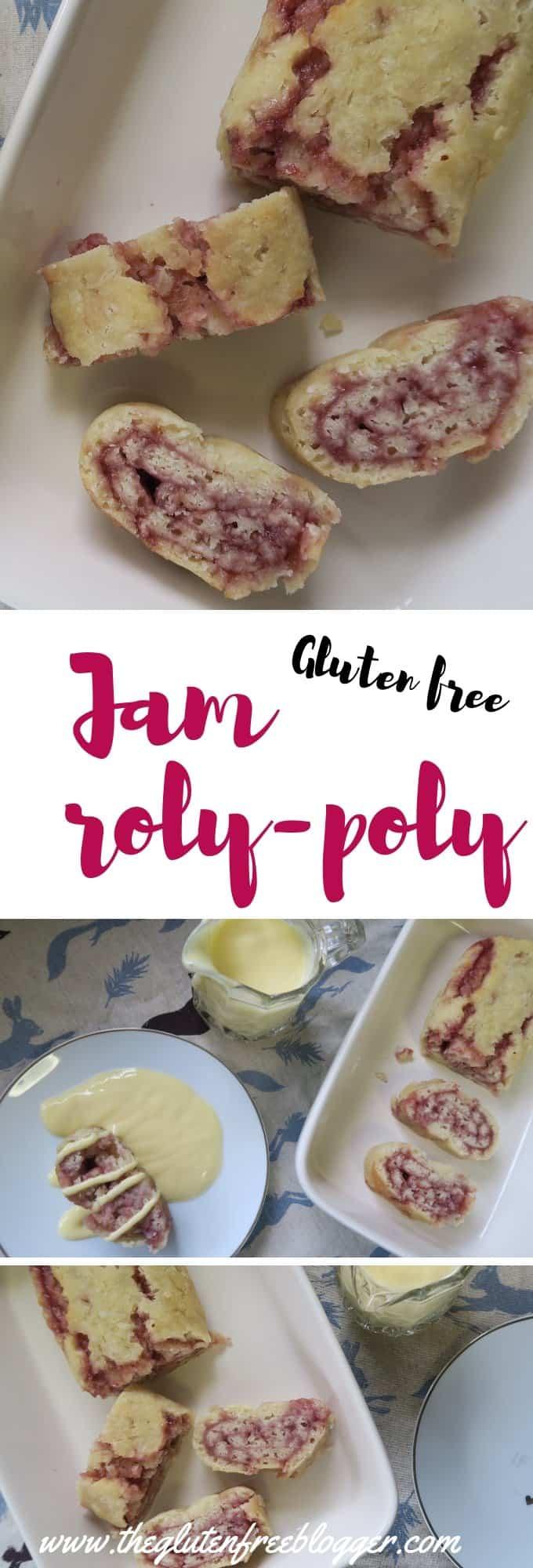 gluten free jam roly poly recipe - dairy free - gluten free dessert - pudding recipe