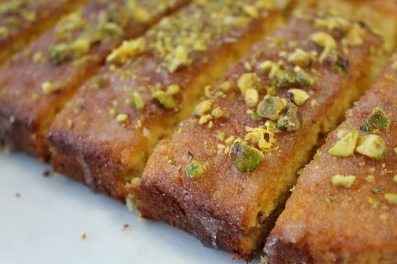 gluten free lemon and pistachio drizzle cake 35