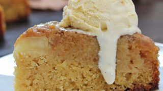 Sticky toffee apple upside down cake