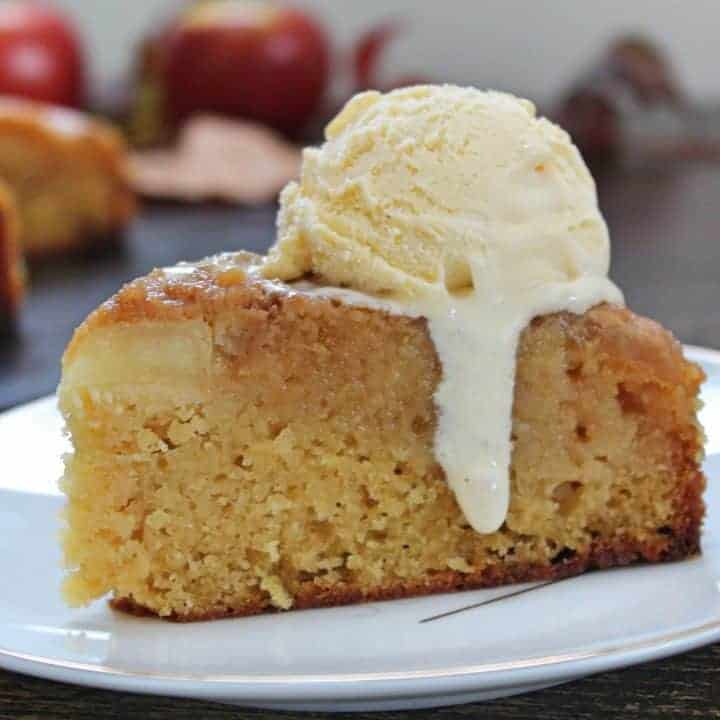 GLUTEN FREE STICKY TOFFEE APPLE UPSIDE DOWN CAKE