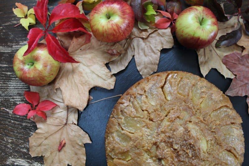 GLUTEN FREE STICKY TOFFEE APPLE UPSIDE DOWN CAKE