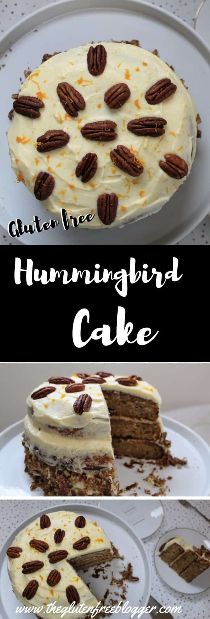 Gluten free hummingbird cake recipe - great british bake off - showstopper cake - coeliac disease
