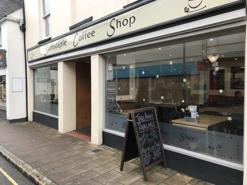 gluten free barnstaple coffee shop