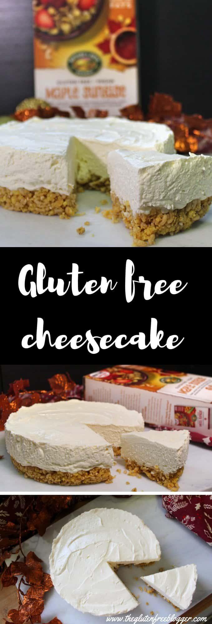 gluten free cheesecake recipe - maple cheesecake - christmas food - christmas cheesecake