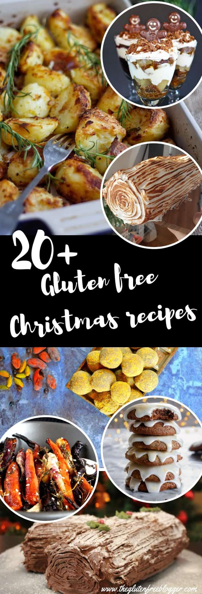 gluten free christmas recipes round-up 20+ christmas dinner dessert gifts recipe