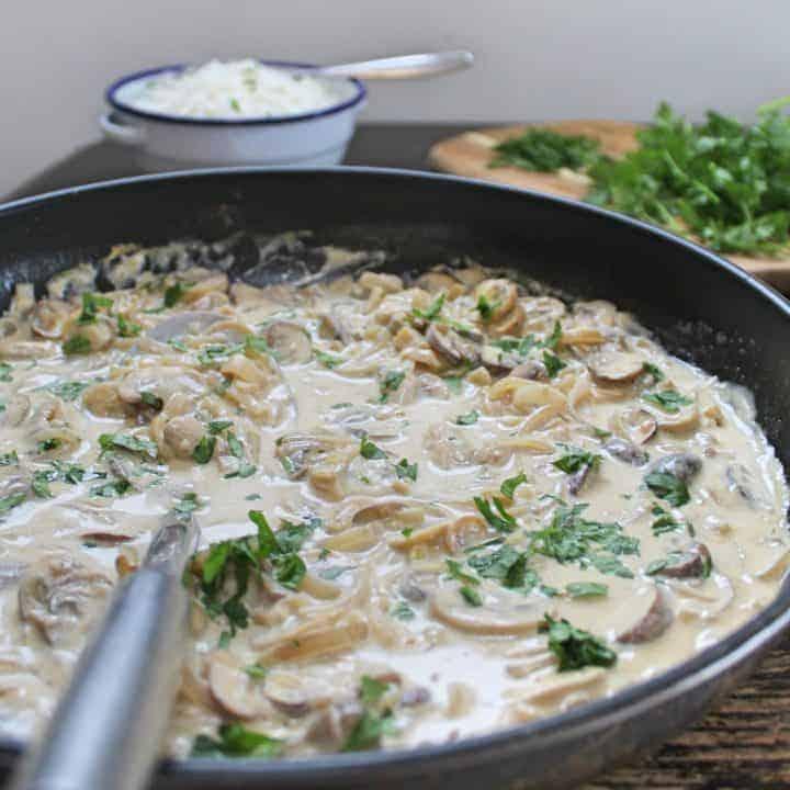 gluten free mushroom stroganoff recipe