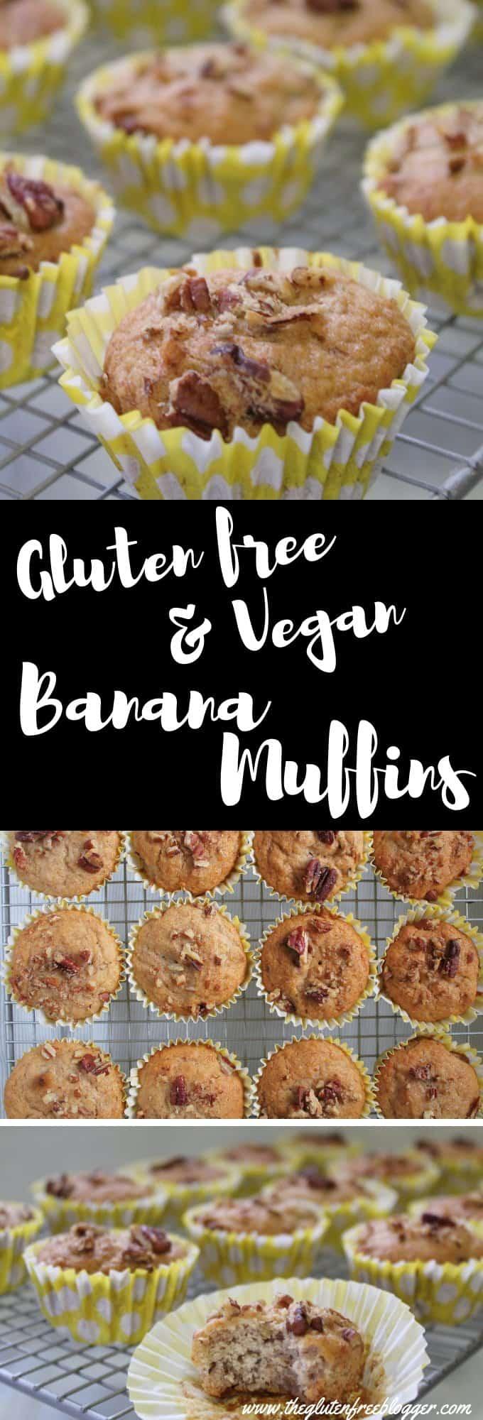 gluten free vegan banana muffins vegan recipe veganuary gluten free egg free dairy free cake