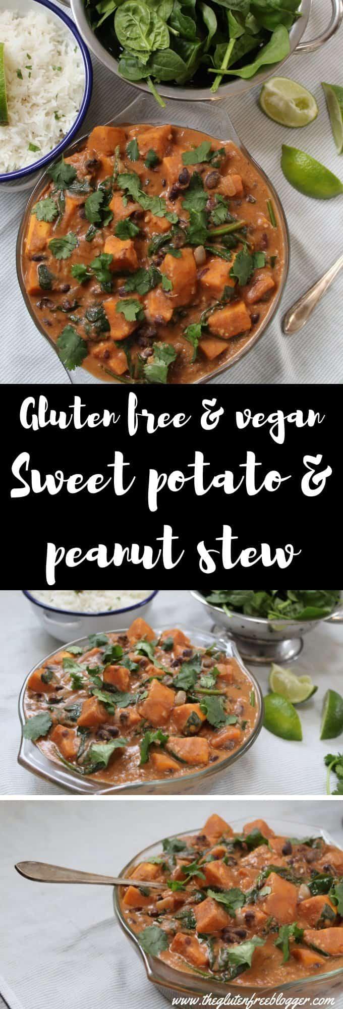 gluten free vegan recipe sweet potato black bean peanut dairy free vegetarian dinner inspiration easy recipe