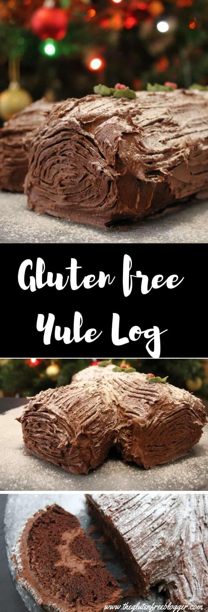 gluten free yule log recipe - christmas recipe - gluten free christmas - coeliac
