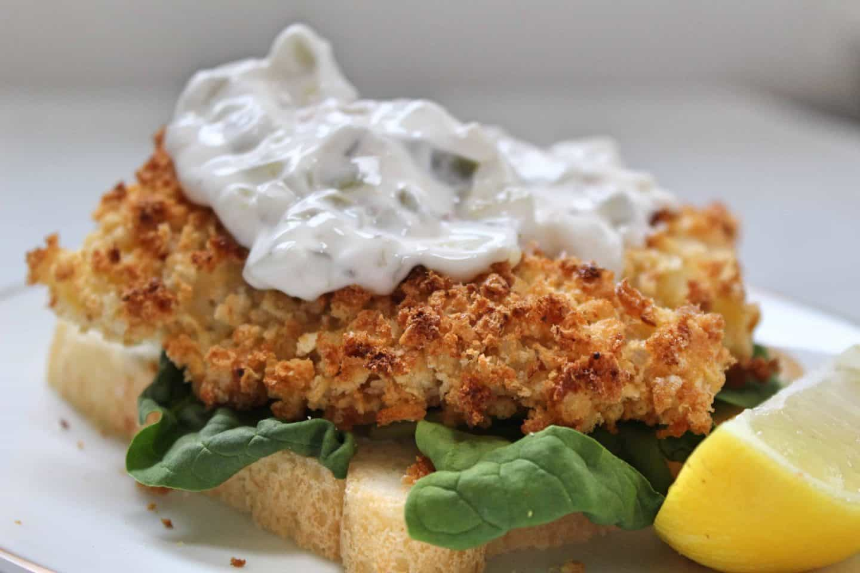 My gluten free cod goujons and tartare sauce make the perfect 'posh' fish finger sandwich