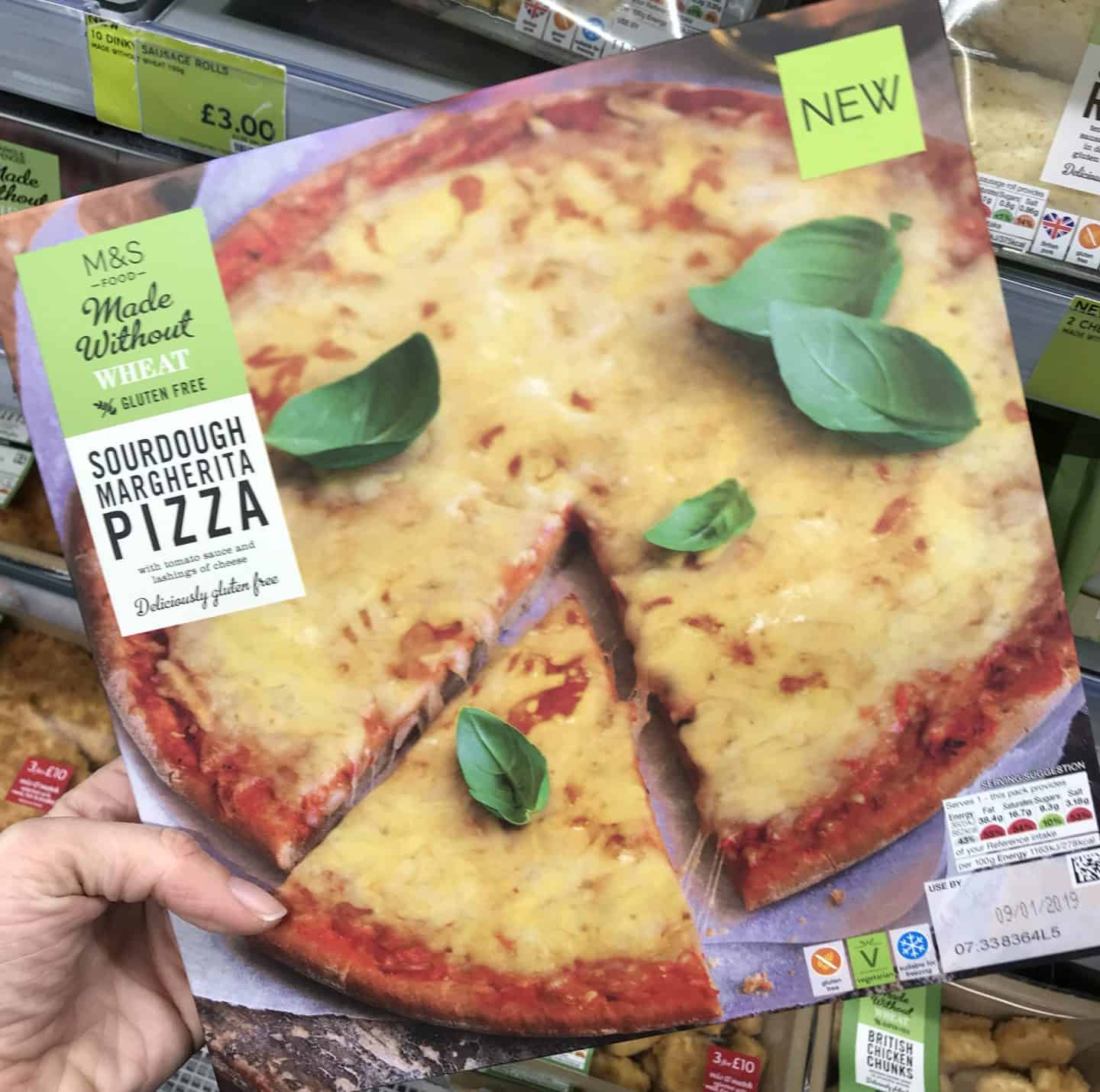 marks and spencer gluten free pizza