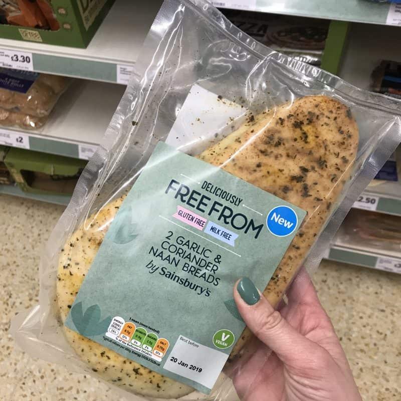 sainsburys gluten free naan bread