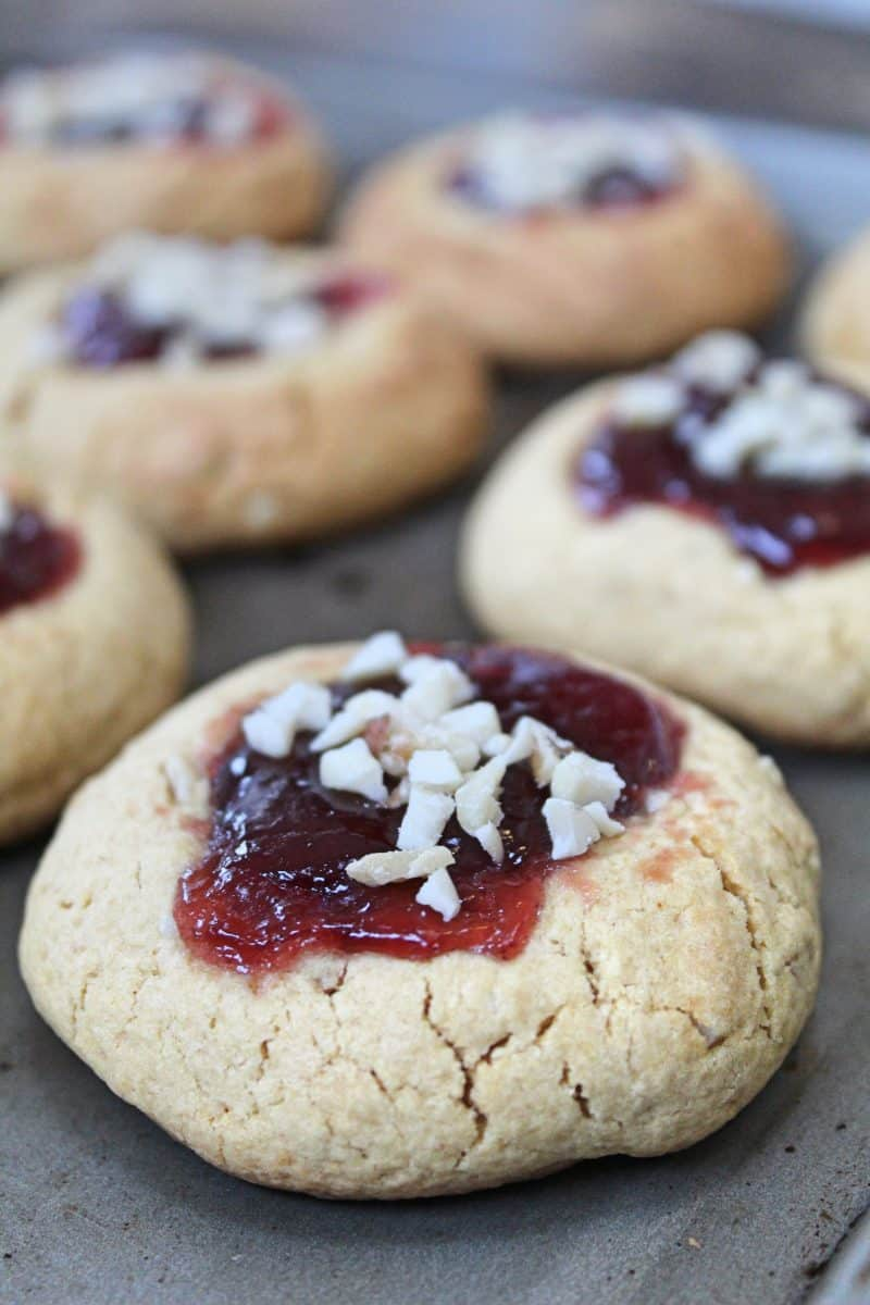 gluten free peanut butter and jelly cookies recipe