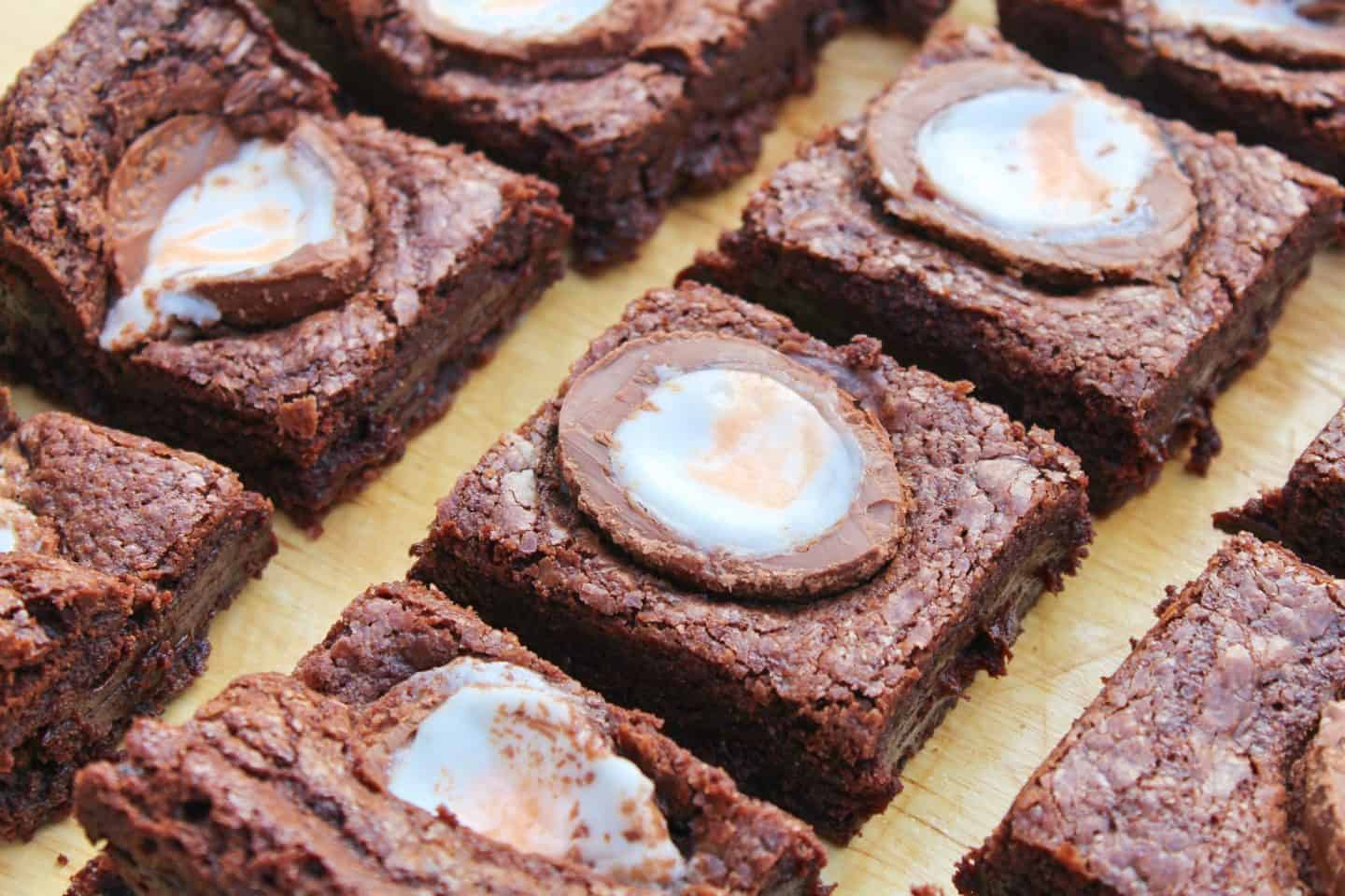 Gluten free Creme Eggs brownies – the ultimate Easter treat!