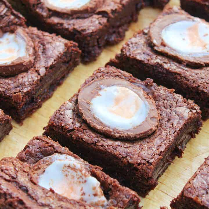 GLUTEN FREE CREME EGG BROWNIES RECIPE