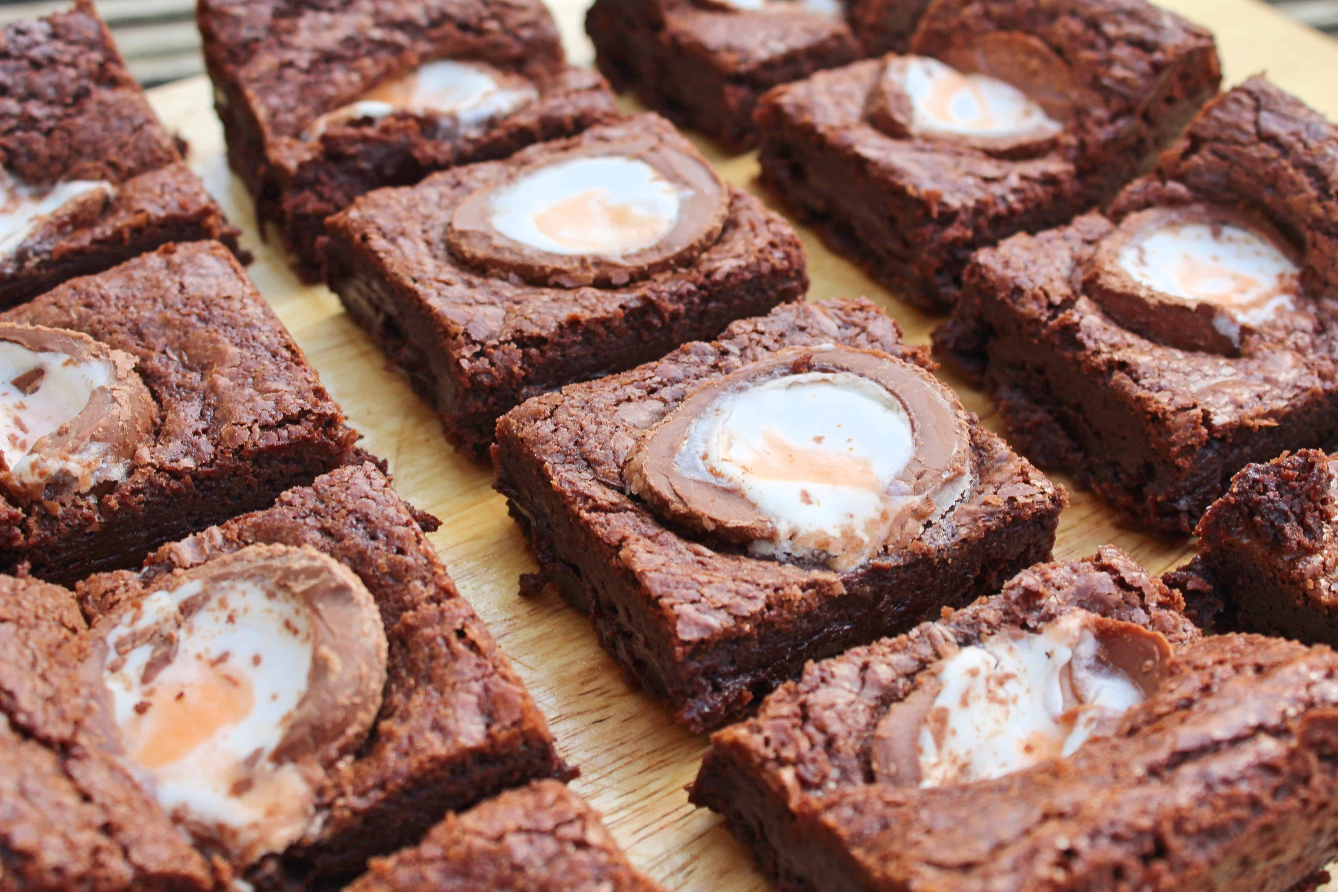 gluten free creme egg brownies recipe