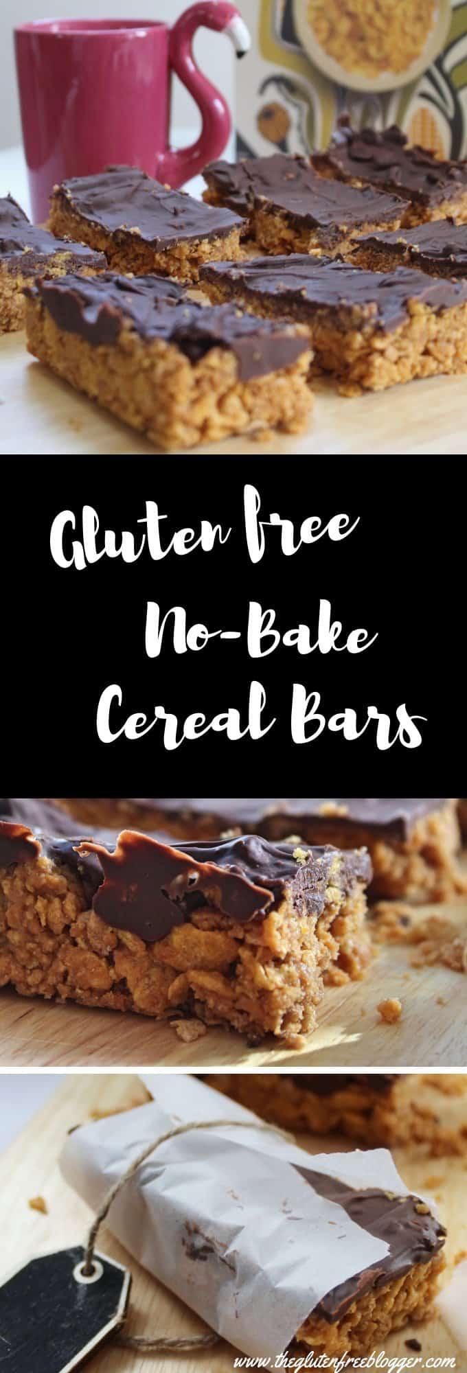 gluten free cereal bars recipe easy no bake snacks coeliac