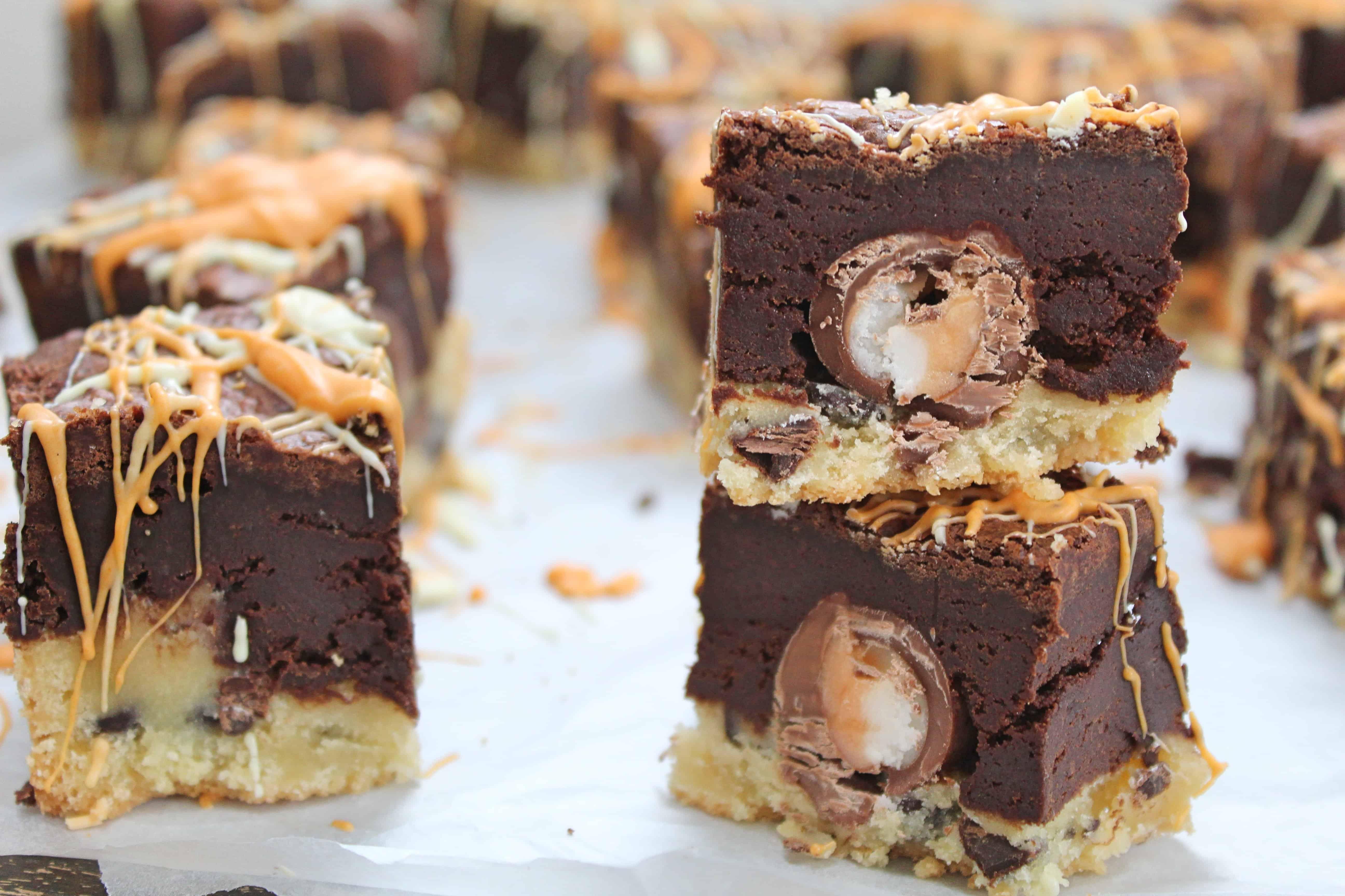gluten free creme egg slutty brownies recipe