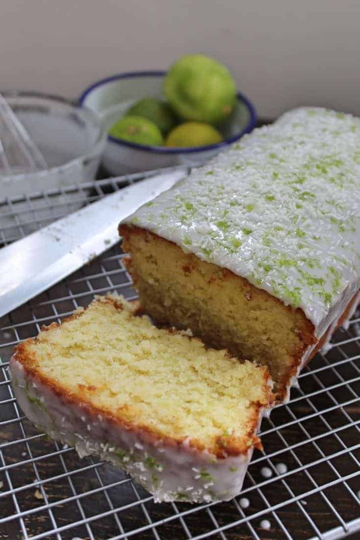Gluten free lime and coconut cake
