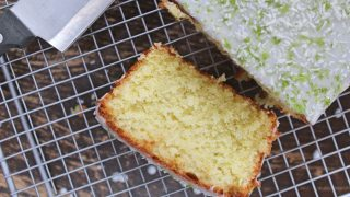 My gluten free lime and coconut cake
