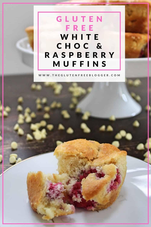 gluten free white chocolate and raspberry muffins coeliac celiac bakes