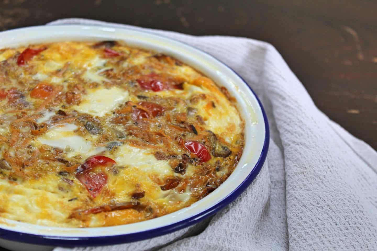 sweet potato and feta frittata recipe