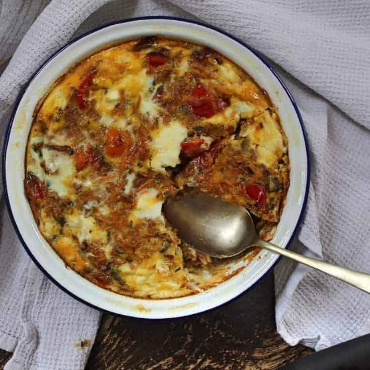 Sweet potato and feta frittata recipe