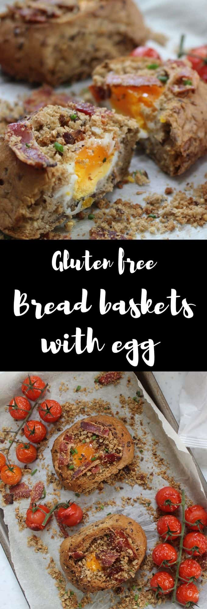 gluten free bread baskets with egg and bacon crumble brunch breakfast recipes